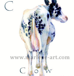 C- the third letter in the Animal Alphabet - is for Cow
