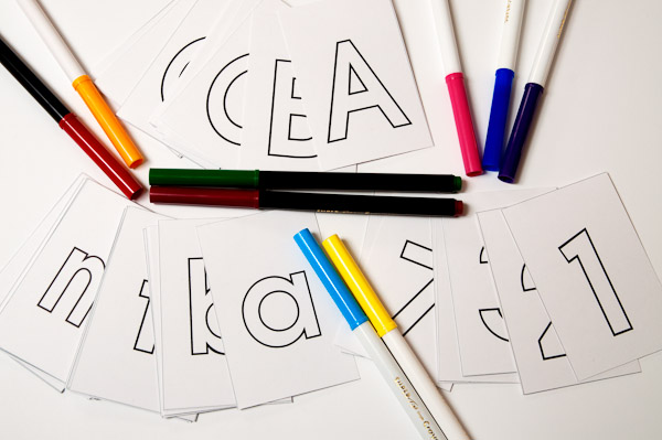 Free ABCs, print and decorate your own letters